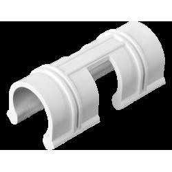 Зажим GRINDA для крепления пленки к каркасу парника, d=12мм, цвет белый, 20шт / 422317-12